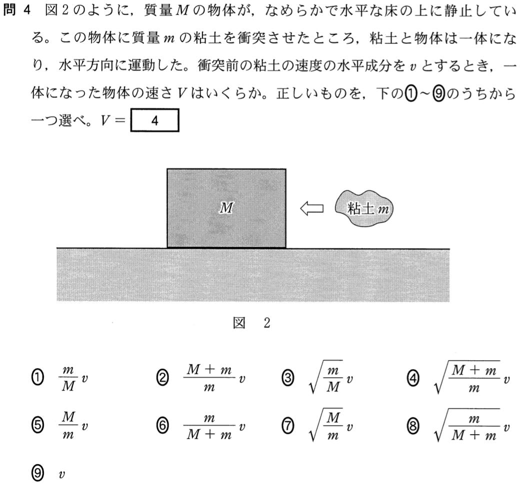 センター2015物理追試第1問 問4...