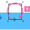 センター2018物理第2問B「落下するコイルと電磁誘導」